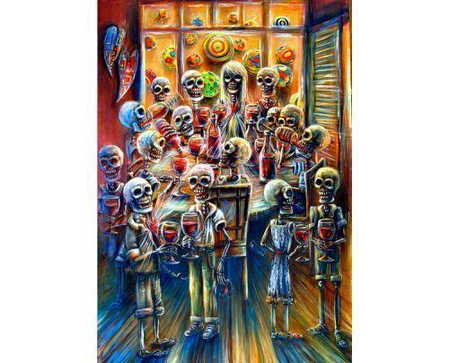 """Skeleton Wine Party"" - H. Calderon"