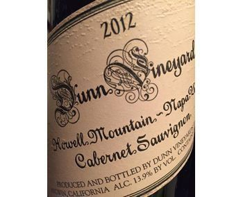 Dunn 2012 Cabernet Sauvignon Howell Mountain