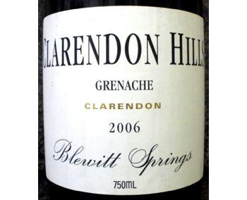 Clarendon Hills 2006 Blewitt Springs Grenache
