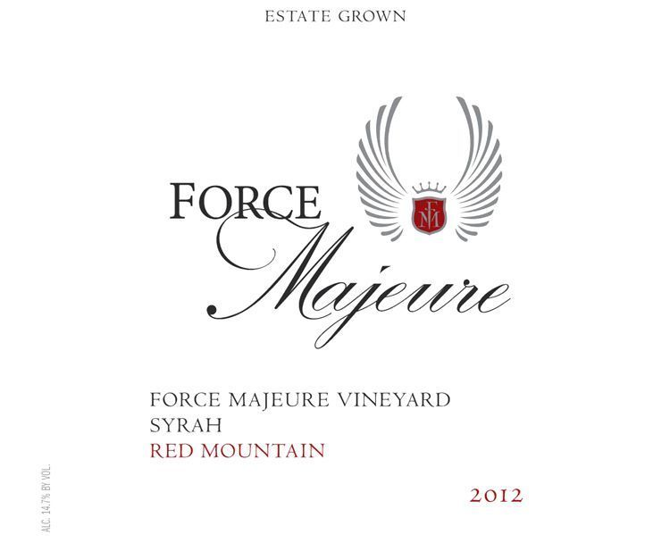 Force Majeure 2012 Estate Syrah