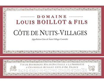 Louis Boillot 2015 Cotes de Nuits-Villages
