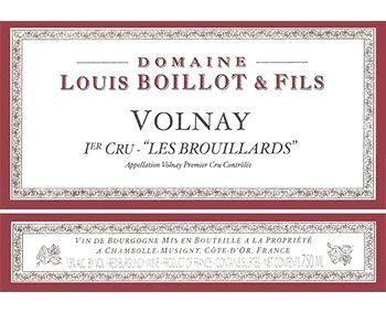 Louis Boillot 2015 Volnay 1er Cru Les Brouillards