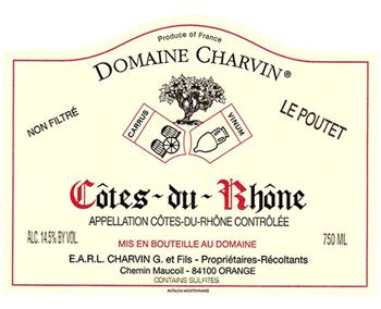 Charvin 2017 Cote du Rhone Le Poutet