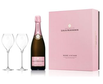 Louis Roederer 2012 Brut Rose Two Glass Set