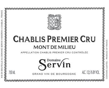 Domaine Servin 2017 Chablis 1er Cru Mont de Milieu