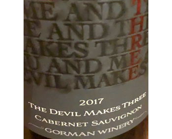Gorman Winery 2017 Devil Makes Three Cab