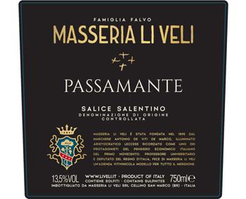 Masseria Li Veli 2018 Salice Salentino Passamante